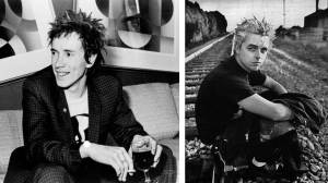 Johnny Rotten (Sex Pistols) y Billie Joe Armstrong (Green Day). La influencia musical y visual es obvia
