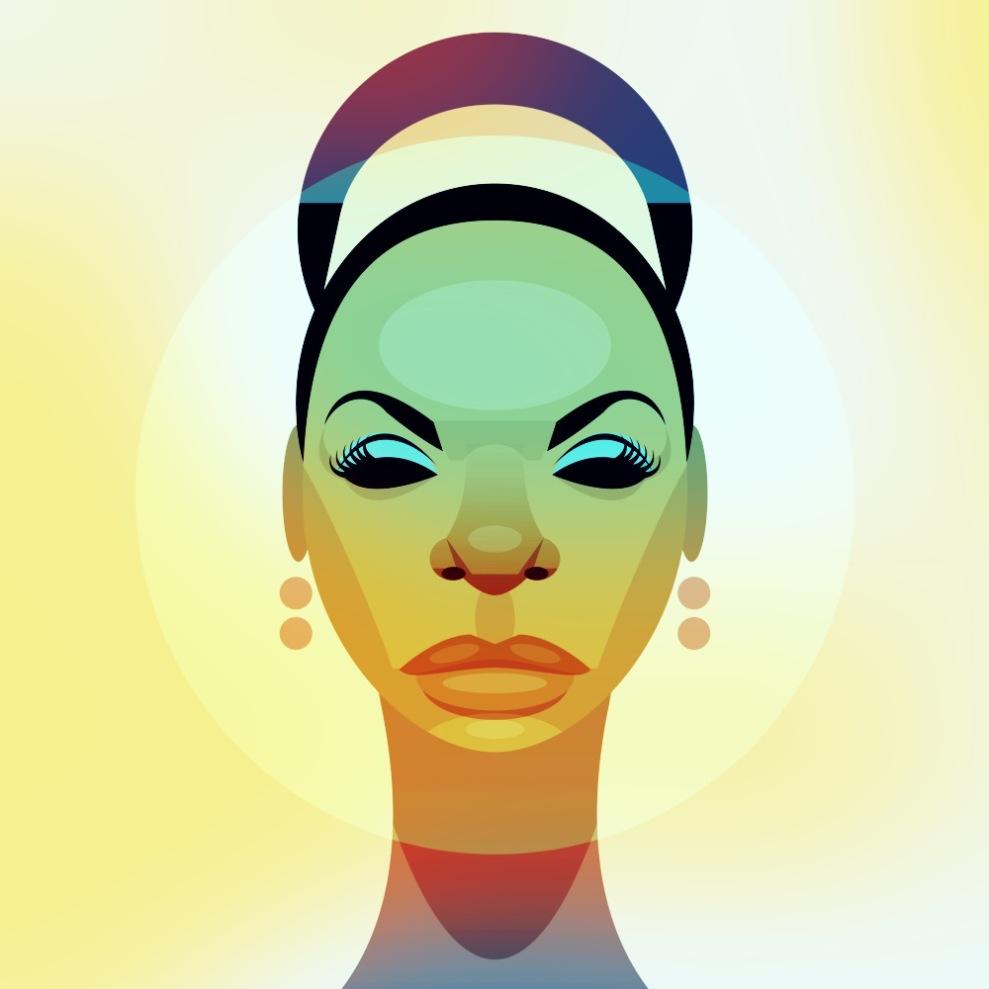 Prolija cantante de Jazz, intérprtete de la canción Feelin' good