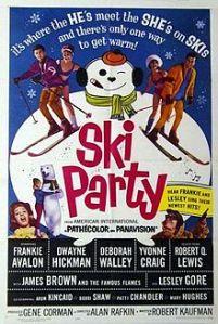 Ski party poster