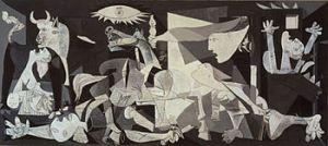 Guernica: expresión visual del horror de la guerra. Pintura de Pablo Picasso que