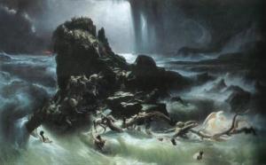 """Esta pintura de Francis Danby, de 1840, es una interpretación del Diluvio Universal, conocido en Inglés como """"The Flood"""""""