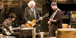 Aquí Jack White compartiendo técnicas y secretos de la guitarra con dos leyendas