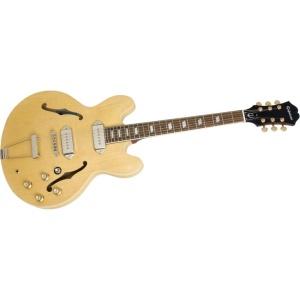 Guitarra marca Epiphone, semi acústica, modelo Casino, similar a la utilizada por Lennon en esta canción