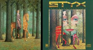 """La portada del disco hace un homenaje a René magritte, al retomar su obra """"Le blanc seing"""" para enfatizar el mensaje de que no todo es lo que parece"""