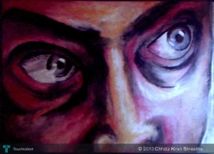 Eyes Expression of Fear Anger by Chhitiz Kiran Shrestha