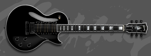All Black Gibso Les Paul M Jones Foreigner